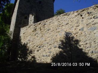 Oprava hradní zdi ve Vimperku
